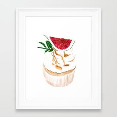 Fig Cupcake Framed Art Print