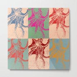 Popart Octopus Metal Print