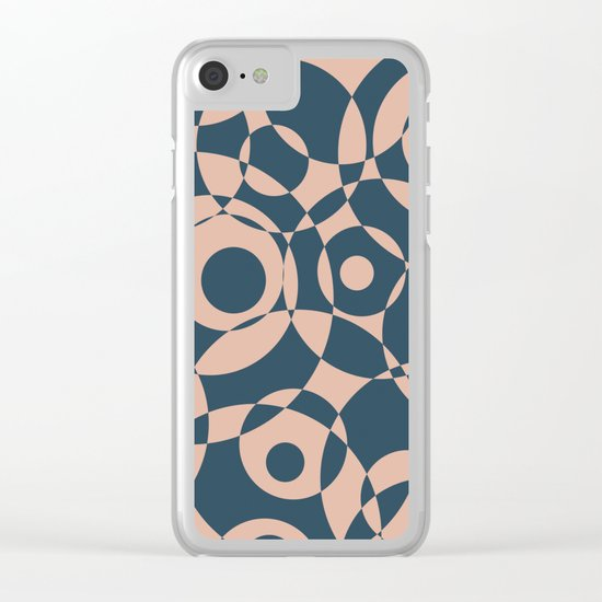 Abstract circles Clear iPhone Case