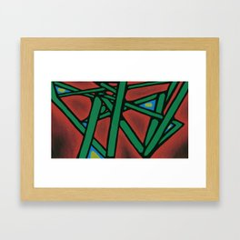 Abstract Lines Framed Art Print