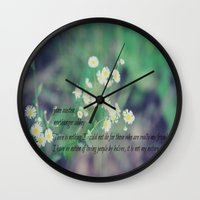 jane austen Wall Clocks featuring Friends Jane Austen by KimberosePhotography