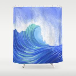 MIGHTY WAVE Shower Curtain