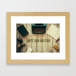 write your own story II Framed Art Print