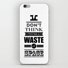 HP Quotes - Deathly Hallows iPhone & iPod Skin