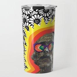 Sculture Wearing Wacky Marble Glasses Travel Mug