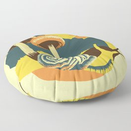 Snail and the Mushrooms Floor Pillow
