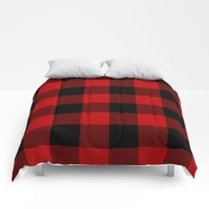 Red and Black Buffalo Plaid Comforters