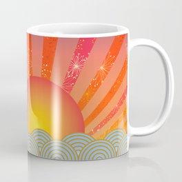 Oriental Seaview Floral Coffee Mug
