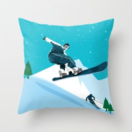 Skiing • Winter Sport Best Selling Design Ever Throw Pillow