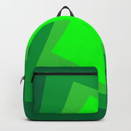 Green squares. Simple geometric background with a light center for your website or business card. Backpack
