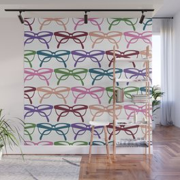 Optometrist Eye Glasses Pattern Print Wall Mural