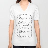 boss V-neck T-shirts featuring Boss  by Ben Nguyen