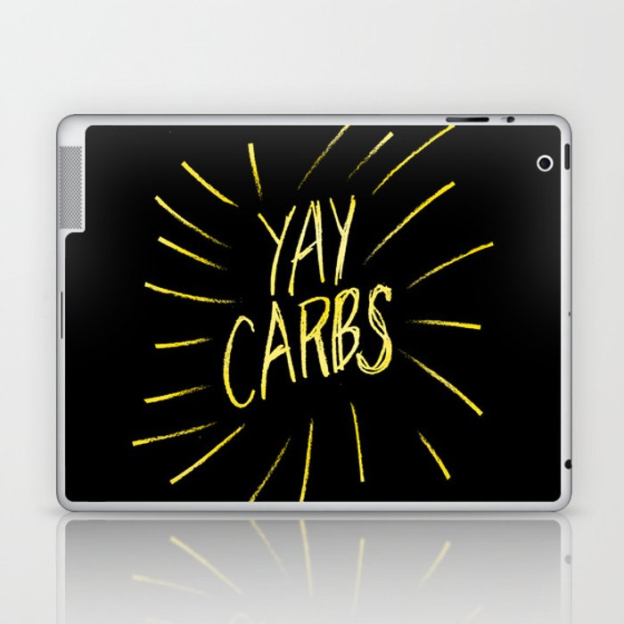 yay carbs Laptop & iPad Skin