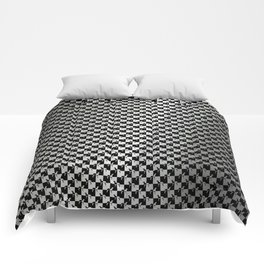 Black and Silver Gray Ghost Checkerboard Weimaraner Comforters