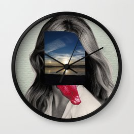 Crazy Woman - Lick me in the moonlight Wall Clock