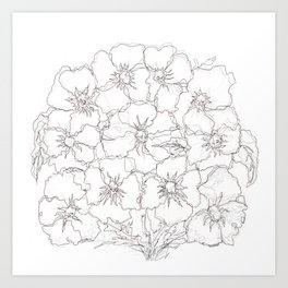 Floral Abstract Sketch Art Print