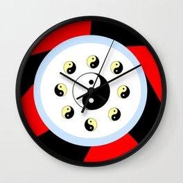 Yin and Yang 16- Tao,Zen,Taoism,Dao,Harmony,religion,buddhism,buddhist,taijitu,taiji,taoist,china Wall Clock