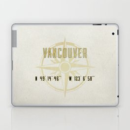 Vancouver - Vintage Map and Location Laptop & iPad Skin