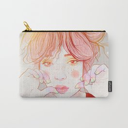 Colorful face Carry-All Pouch