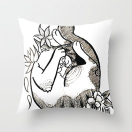 Cutie shy Throw Pillow