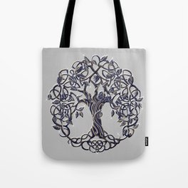 Tree of Life Silver Tote Bag