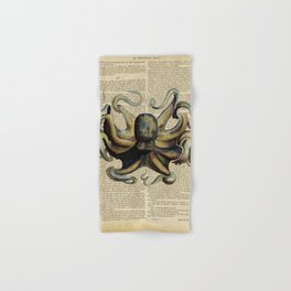 Book Art Octopus Color Hand & Bath Towel