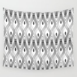 Art Deco 56 . black and gray spiral . Wall Tapestry