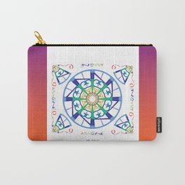 Imagine from the Inside - White/Orange Pink Carry-All Pouch