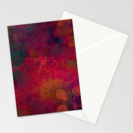 Abstract bright red orange green Stationery Cards