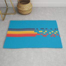Classic 80s Video Game Style Retro Stripes Pixel Drops - Akiko Rug