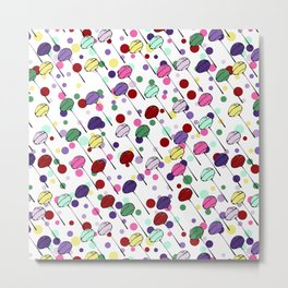 lolly pops and dots Metal Print