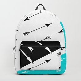 Turquoise black white pattern Boom 2 . Backpack