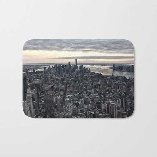 New York skyline x Bath Mat