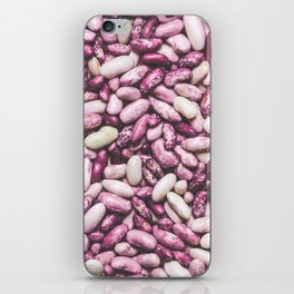 Shiny white and purple cool beans iPhone Skin