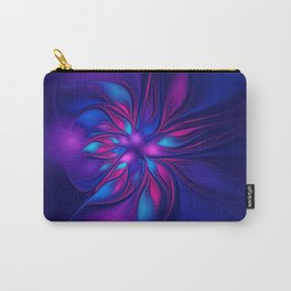 Pink Blue Fantastic Flower | Aqua, purple flowers Carry-All Pouch