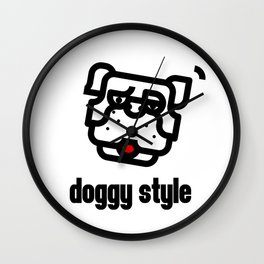 doggystyle Wall Clock