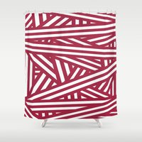 chaos Shower Curtains featuring Chaos by Alexandra Gambaro