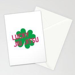 Lucky Jiu Jitsu Irish St Patricks Day Arm Roll Stationery Cards