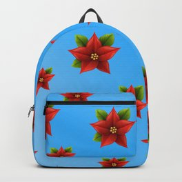 Red Flowers Pattern 2 Backpack