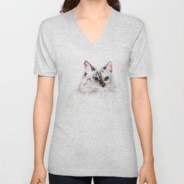 Beatiful Cat Unisex V-Neck