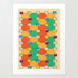 Plattenbau Geometry Art Print
