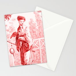 Chinoiserie Toile in Red Stationery Cards