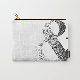 Black and white ampersand symbol Carry-All Pouch