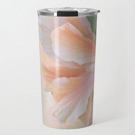 PEACH HIBISCUS Travel Mug
