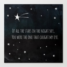 OF ALL THE STARS Canvas Print