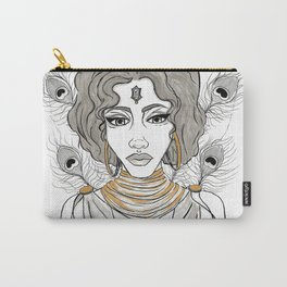 Goddess Oshun Inktober 2016 Carry-All Pouch