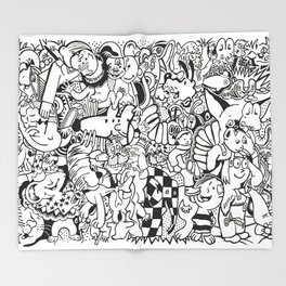 Coloring Page For Literacy Throw Blanket
