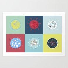 Radiolarian Composition Art Print