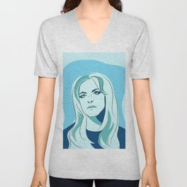 Blue Self Portrait Unisex V-Neck