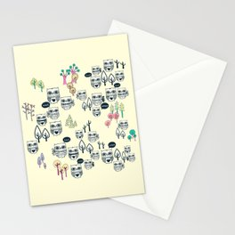 Forest Of Owls Stationery Cards